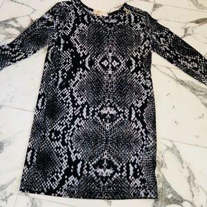 Michael Kors Python Shirt Dress Sz S